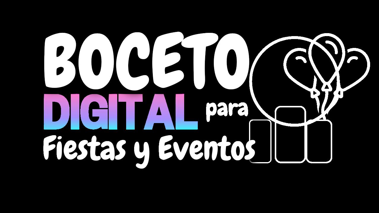 boceto digital para fiestas y eventos 2021 2022 curso online
